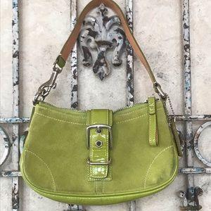 Coach suede/patent leather mini bag!